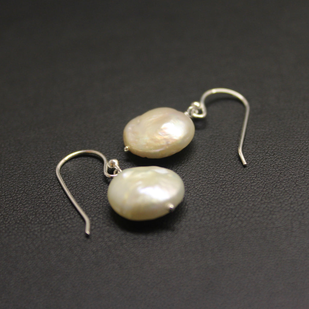Sterling Silver & Freshwater Pearl Earrings