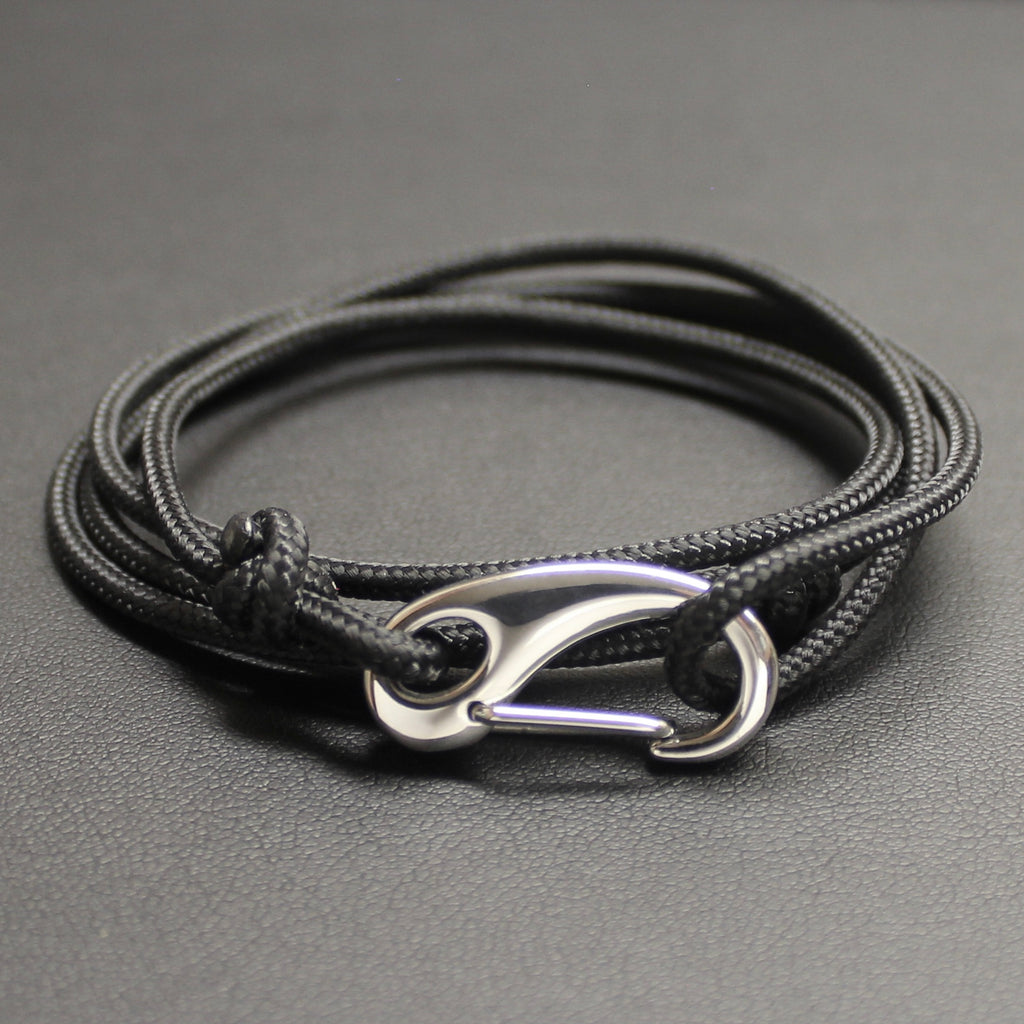 Mens | Tactical Cord & Stainless Steel Bracelet