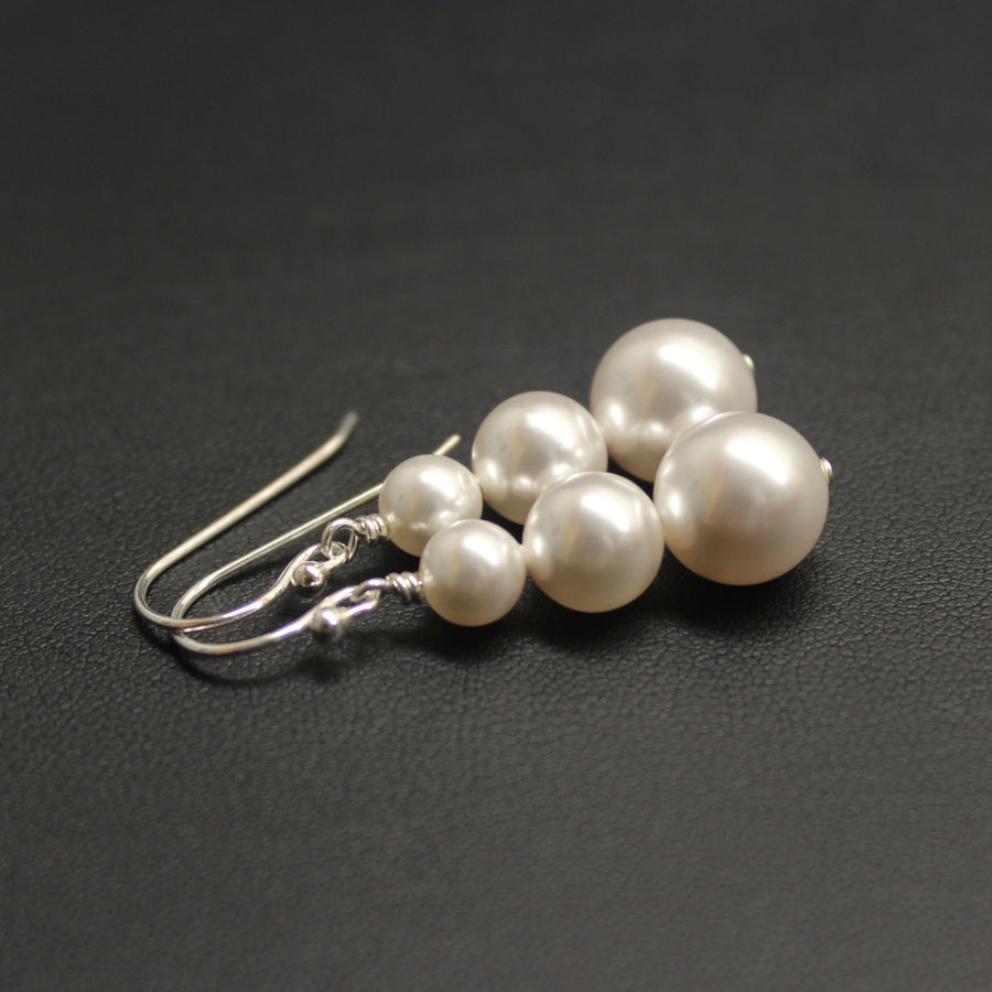 Bolero Pearl Trio Earrings