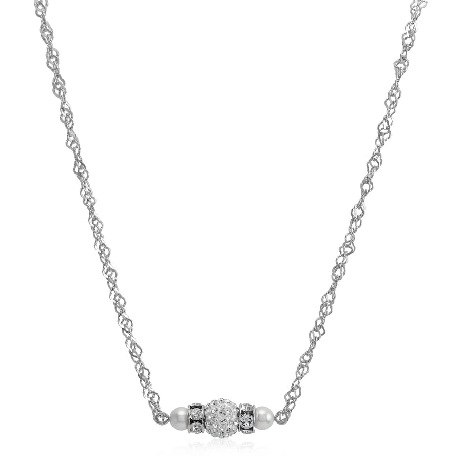 Classical Petite Luxe Swarovski Crystal & Pearl Necklace