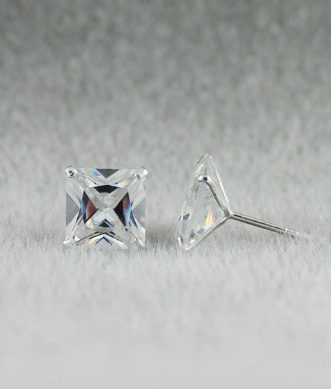 Ballet Studs (Princess) Sterling Silver 9mm