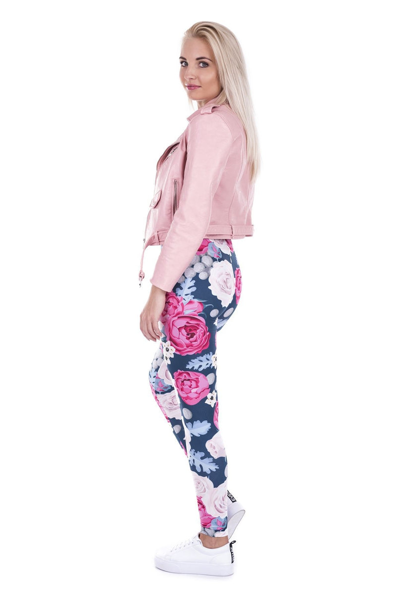 Wild Roses Regular Leggings-Wholesale Leggings UK- Wholesale Women's Clothing- Kukubird Creative Studio
