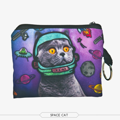 Space Cat Coin Purses-Wholesale Women's Leggings, Wholesale Plus Size , Wholesale Fashion Clothing