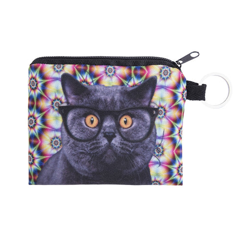 Acid Cat Coin Purses-Wholesale Leggings UK- Wholesale Women's Clothing- Kukubird Creative Studio