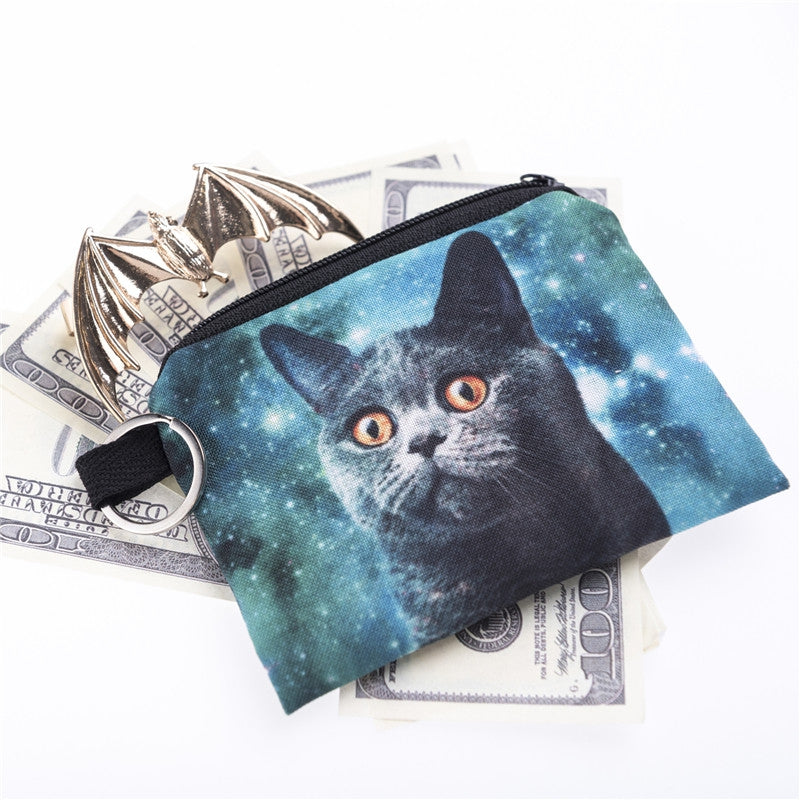 Blue Cat Coin Purses