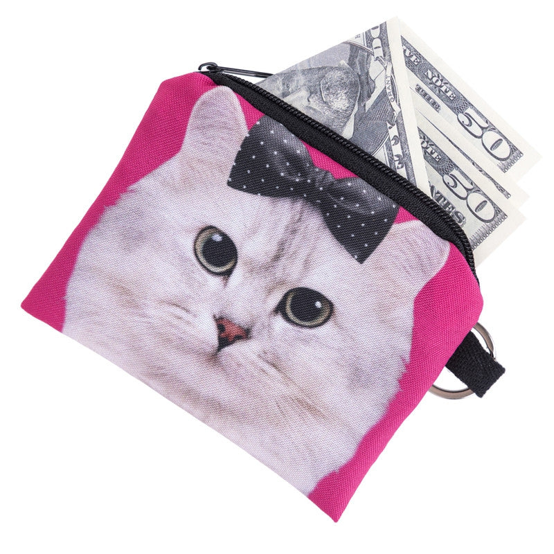 Bow Cat Coin Purses