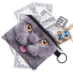 British Cat Coin Purses-Wholesale Women's Leggings, Wholesale Plus Size , Wholesale Fashion Clothing