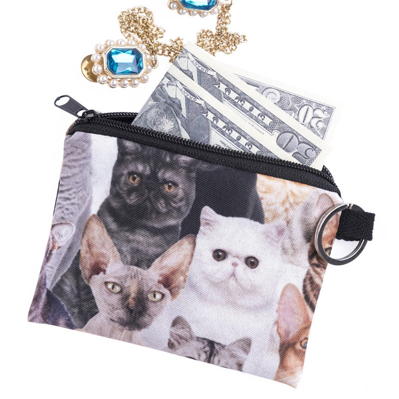 Cats Pattern Coin Purses