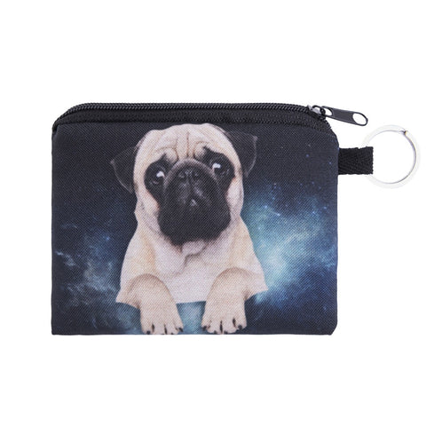 Galaxy Pug Coin Purses-Wholesale Women's Leggings, Wholesale Plus Size , Wholesale Fashion Clothing