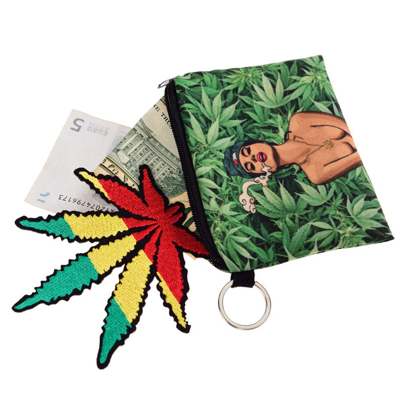 Weed Lady Coin Purses
