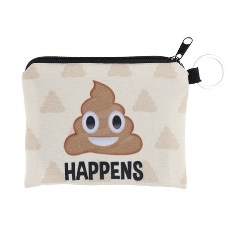 Poop Happens Coin Purses-Wholesale Women's Leggings, Wholesale Plus Size , Wholesale Fashion Clothing