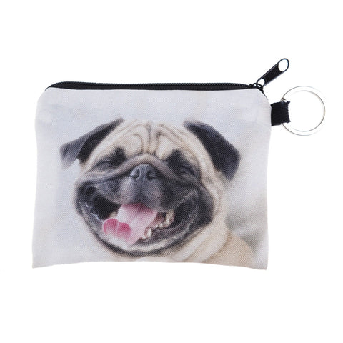 Happy Pug Coin Purses-Wholesale Women's Leggings, Wholesale Plus Size , Wholesale Fashion Clothing