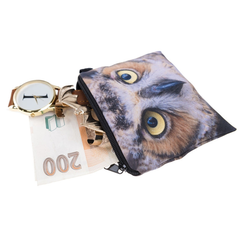 Owl Brown Coin Purses