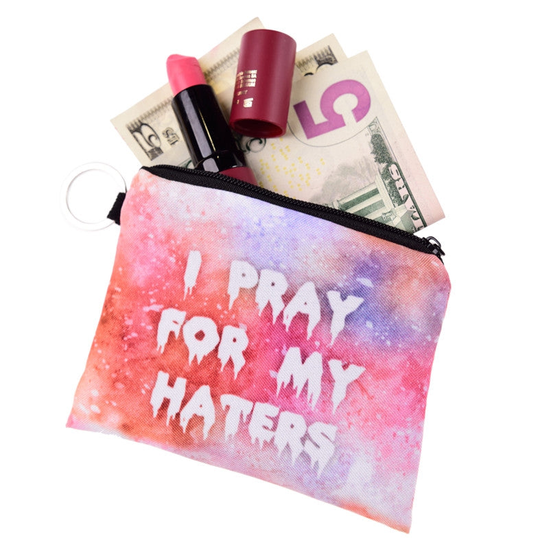 I Pray For My Haters Coin Purses