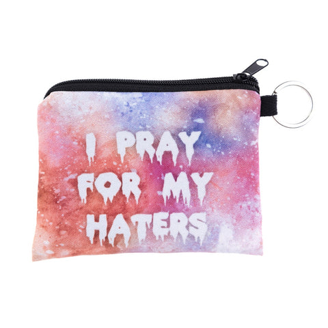 I Pray For My Haters Coin Purses-Wholesale Women's Leggings, Wholesale Plus Size , Wholesale Fashion Clothing