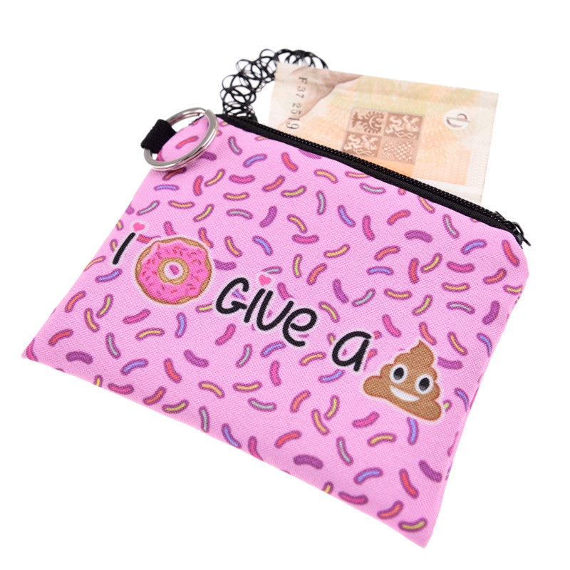 I Donut Give A Poop Coin Purses