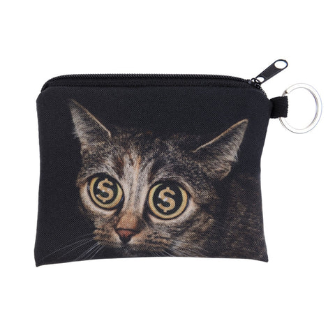 Cat Gold Rush Coin Purses-Wholesale Women's Leggings, Wholesale Plus Size , Wholesale Fashion Clothing