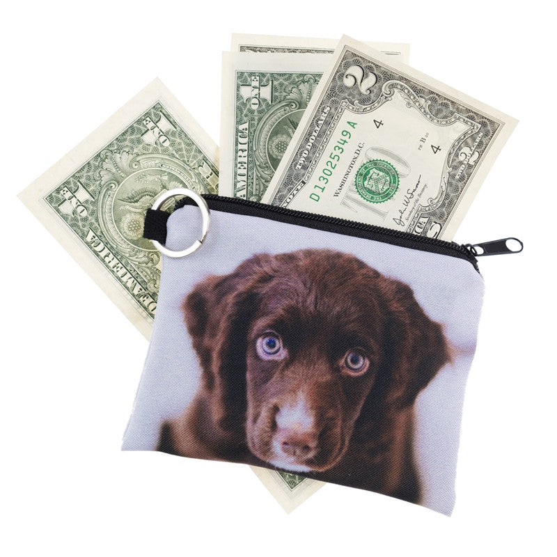 Brown Puppy Coin Purses