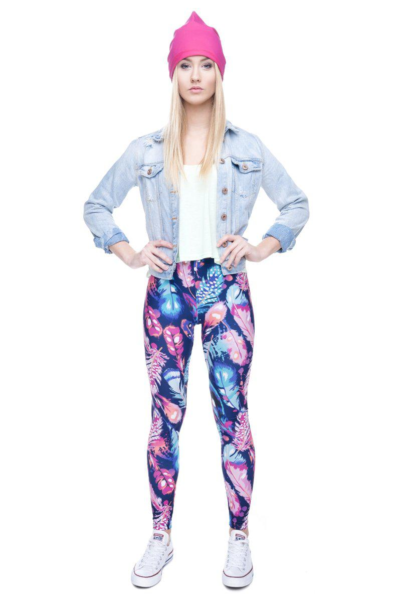 Feathers  Color Regular Leggings