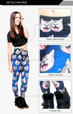 Galaxy gray cat Regular Leggings-Wholesale Women's Leggings, Wholesale Plus Size , Wholesale Fashion Clothing
