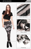 Black Tutenh Regular Leggings-Wholesale Women's Leggings, Wholesale Plus Size , Wholesale Fashion Clothing