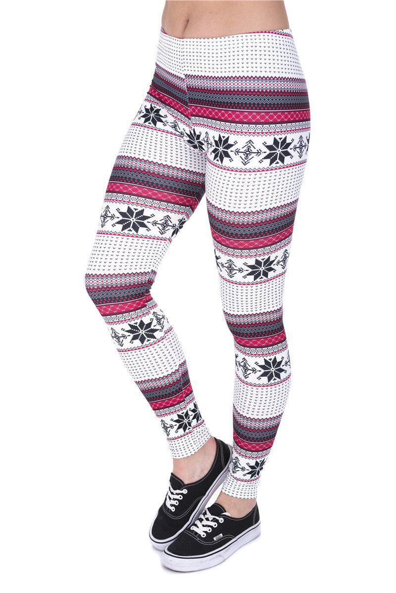 Winter Snow Regular Leggings