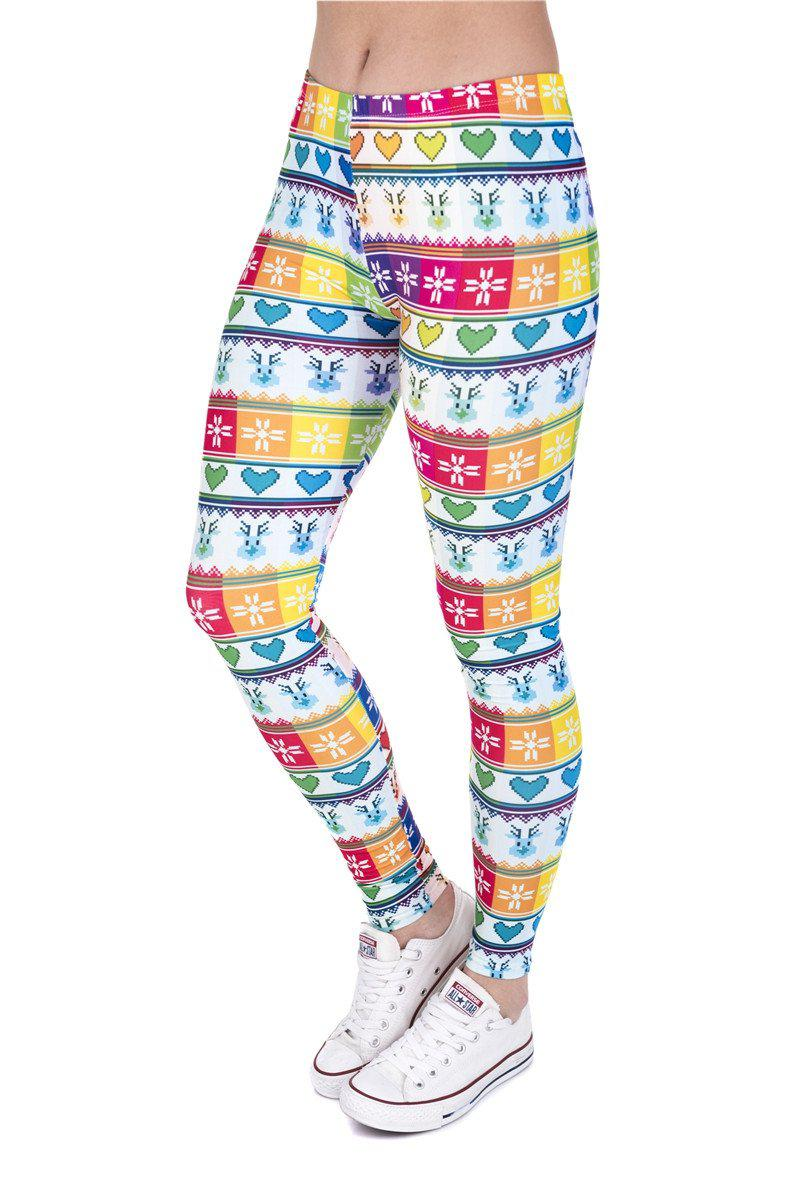 Winter Rainbow Regular Leggings