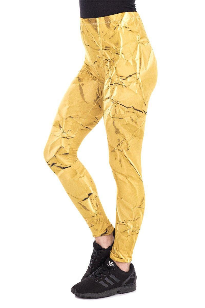 Gold Paper Regular Leggings