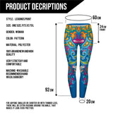 Seaflowers Regular Leggings-Wholesale Women's Leggings, Wholesale Plus Size , Wholesale Fashion Clothing