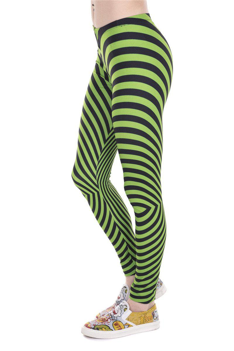 Hypnotic Green Regular Leggings