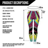 Disco peace Regular Leggings-Wholesale Women's Leggings, Wholesale Plus Size , Wholesale Fashion Clothing