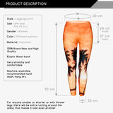 Sunset Palm Regular Leggings-Wholesale Women's Leggings, Wholesale Plus Size , Wholesale Fashion Clothing