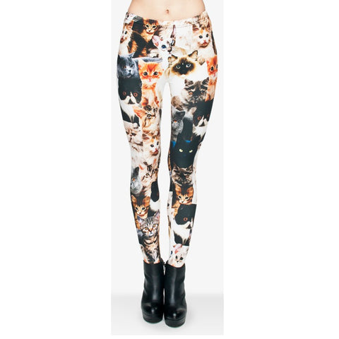Cats Regular Leggings-Wholesale Leggings UK- Wholesale Women's Clothing- Kukubird Creative Studio