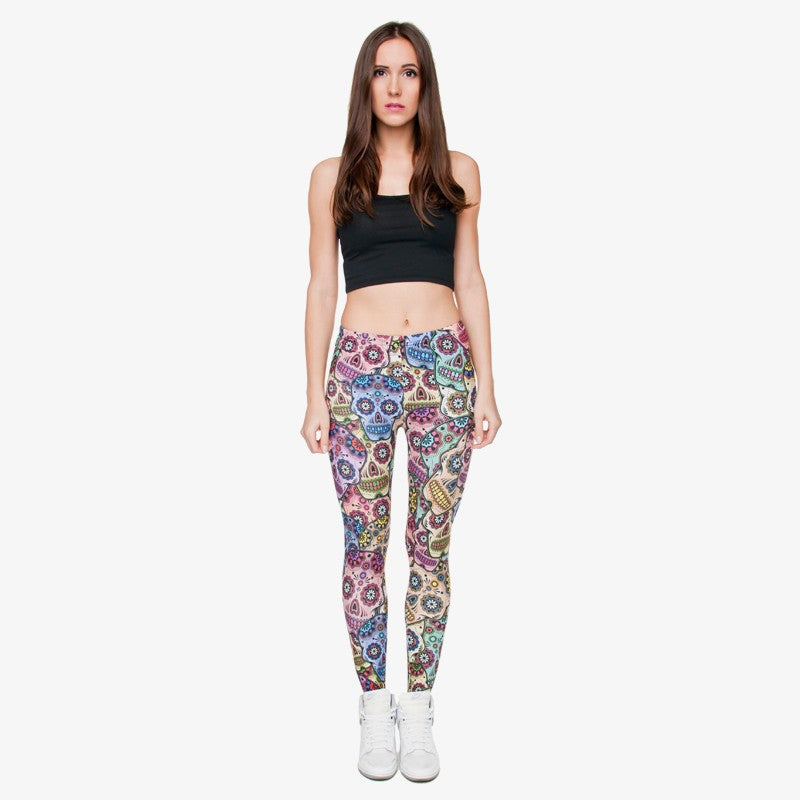 Mexican Skull Regular Leggings