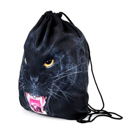 Black Puma DrawString Bags-Wholesale Women's Leggings, Wholesale Plus Size , Wholesale Fashion Clothing