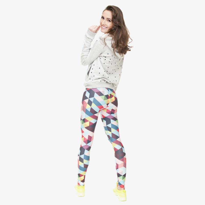 Color Triangles 3D Regular Leggings
