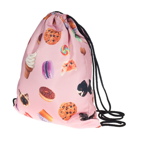 Cat Sweet DrawString Bags-Wholesale Women's Leggings, Wholesale Plus Size , Wholesale Fashion Clothing
