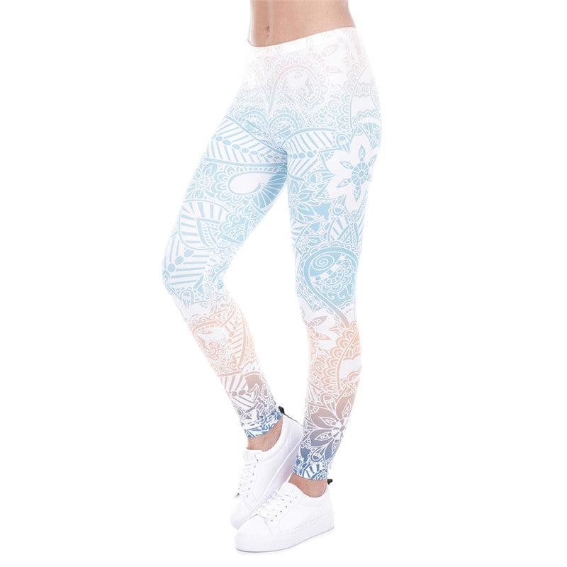 Mandala Mint Regular Leggings