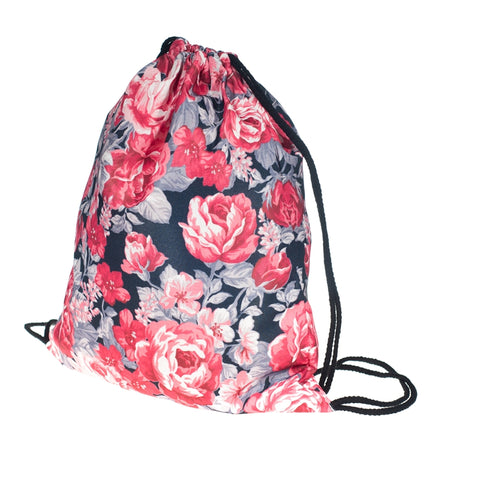 Roses DrawString Bags-Wholesale Women's Leggings, Wholesale Plus Size , Wholesale Fashion Clothing