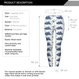 Sea Waves Regular Leggings-Wholesale Women's Leggings, Wholesale Plus Size , Wholesale Fashion Clothing
