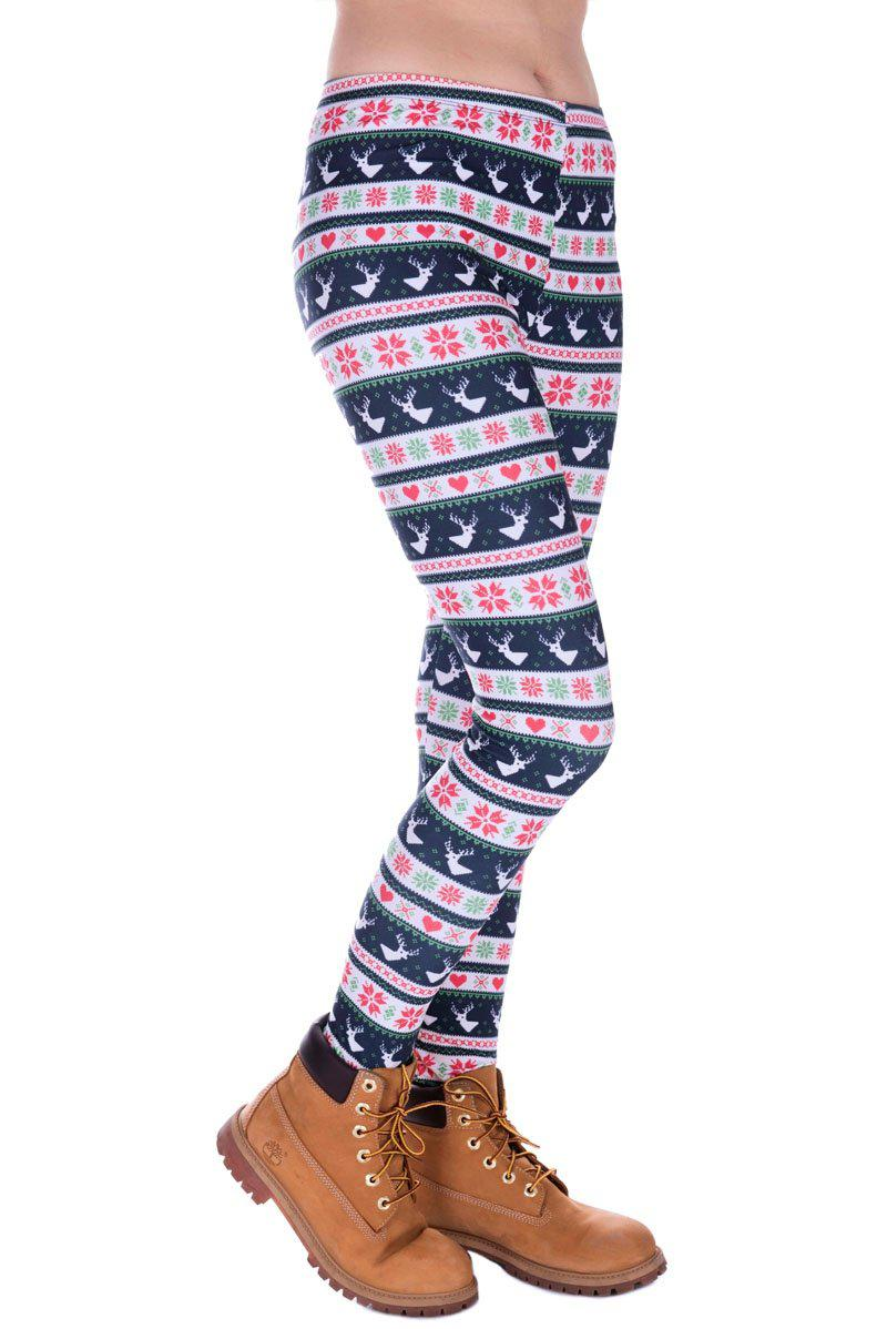Winter Deer Regular Leggings