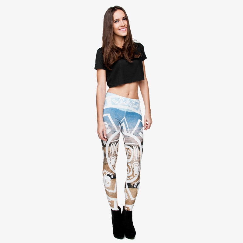 Mayan Callendar Regular Leggings
