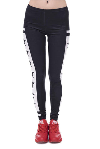 Black Stars Regular Leggings-Wholesale Women's Leggings, Wholesale Plus Size , Wholesale Fashion Clothing