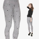 Hypnose Hexagon Regular Leggings-Wholesale Women's Leggings, Wholesale Plus Size , Wholesale Fashion Clothing