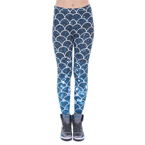 Mermaid Glitter Regular Leggings-Wholesale Women's Leggings, Wholesale Plus Size , Wholesale Fashion Clothing