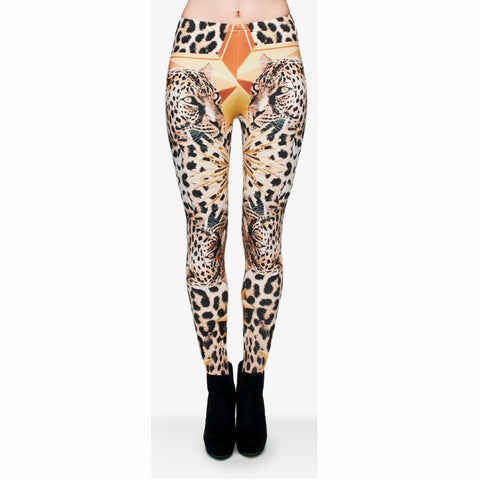 Leopard Star Regular Leggings-Wholesale Women's Leggings, Wholesale Plus Size , Wholesale Fashion Clothing