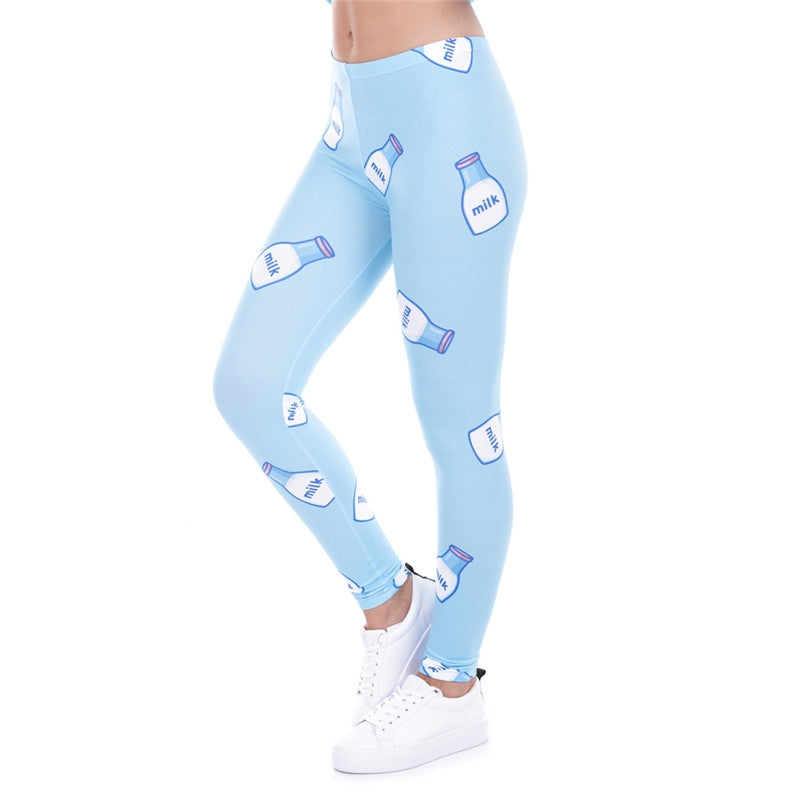 Milk Blue Regular Leggings