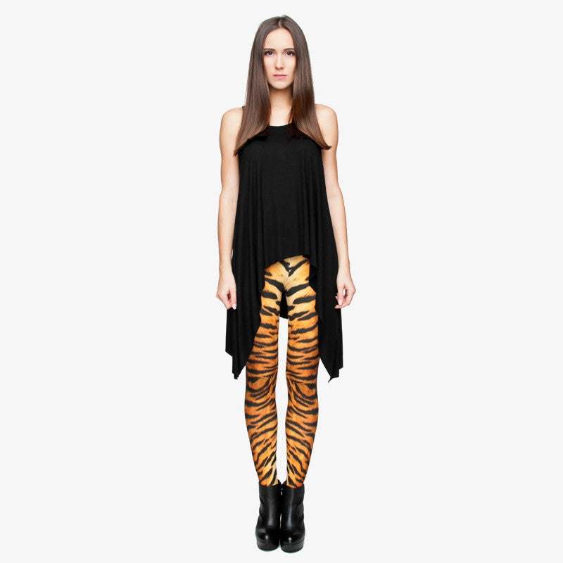 Tiger Fur Regular Leggings