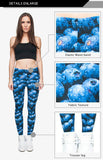 Blueberry Regular Leggings-Wholesale Women's Leggings, Wholesale Plus Size , Wholesale Fashion Clothing