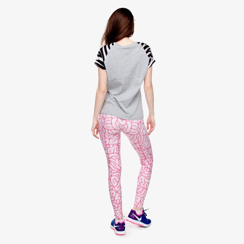 Brains Regular Leggings-Kukubird Creative Studio